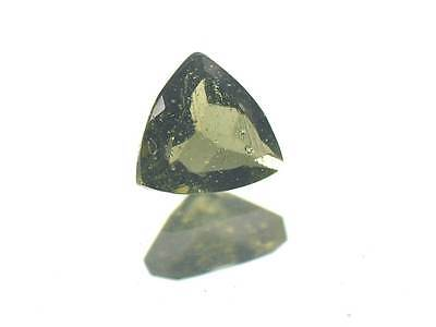 0.6cts TRIGON standart cut 6mm moldavite faceted cutted gem BRUS1231