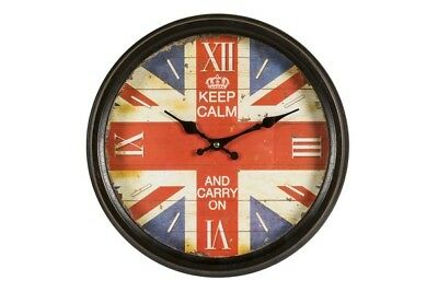 Orologio rotondo UK Union Jack bandiera inglese arredo casa pub bar  WALL CLOCK