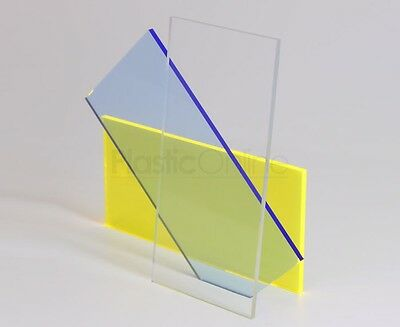 Clear Acrylic Perspex Sheet Plastic Panel A4 Size