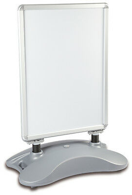 A0 Silver Waterbase Pavement Poster Sign A-Board Holder-Snap Frame Display Stand
