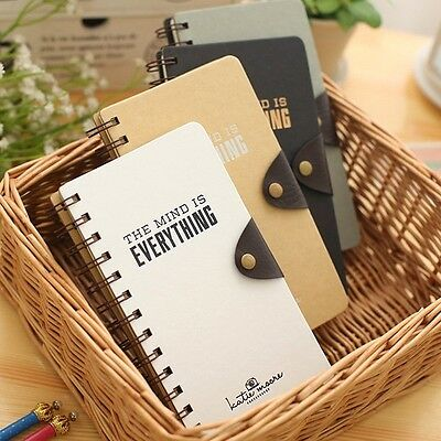 """My Mind"" 1pc Journal Diary Pocket Coil Spiral Sketchbook Blank Papers Notebook"
