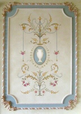 Marie Antoinette Grand Panel Wall Stencil - LARGE - Detailed French Decor