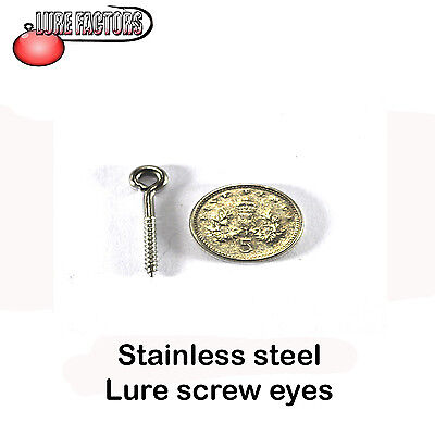 25mm Stainless steel screw eyes lure building hook hangers