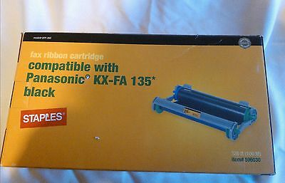 Staples Fax Ribbon Cartridge KX-FA 135 Black