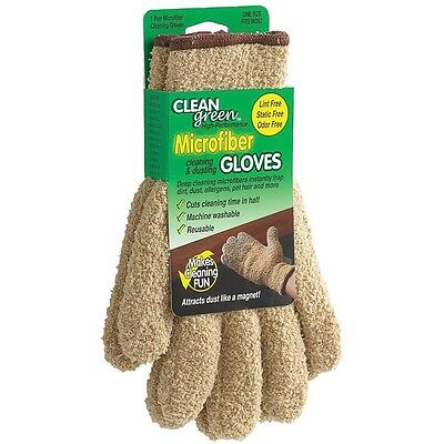 Master Caster CleanGreen Microfiber Cleaning & Dusting Gloves 18040