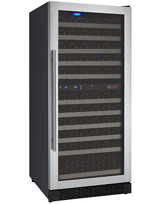 Allavino 121 Bottle Built-In Commercial Wine Cooler Refrigerator Dual Zone