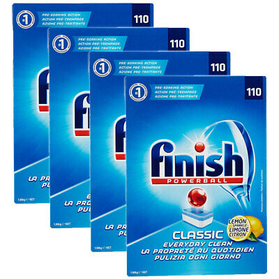 Finish Lemon Classic Pack 330 Tabs Tablets Powerball for Dishwashing Dishwasher
