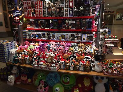 """Brand New  *** EXCLUSIVE TY Beanie Boo's ***  6"""" Size  JUSTICE & CLAIRES Styles"""