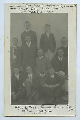 1908 Rp Pu Postcard 6Th Formers Kyre (Scotch) College Unley Park Adelaide V87
