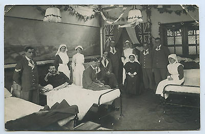 Ww1 Rp Npu Postcard British Military Hospital London Mde Selby Parsons Phot X61