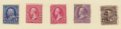 (USE12) 1890 USA 13mix 1c to10c