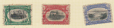 (USE19) 1901 USA 3mix 1d, 2d& 5d (rounded corner) Pan American Expedition
