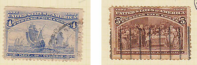 (USE27) 1893 USA 4c blue &5c brown Columbus expedition