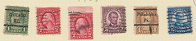 (USE30) 1923 USA 10mix 1c to 10c