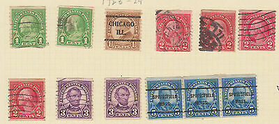 (USE31) 1923-39 USA 16mix 1c to 5c