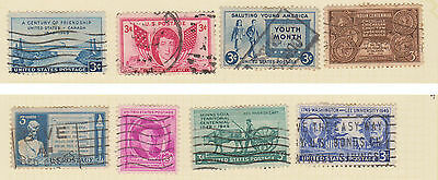(USE39) 1941-50 USA 22mix of 3c stamps (A)