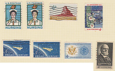 (USE46) 1961-62 USA 20mix of 4c stamps
