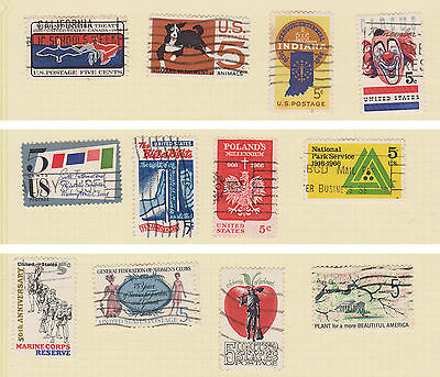 (USE52) 1960 USA 21mix of 5c stamps