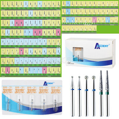 5 Packs 25 PCS Diamond Burs Drill for High Speed Handpiece 150 TYPES CHOICE