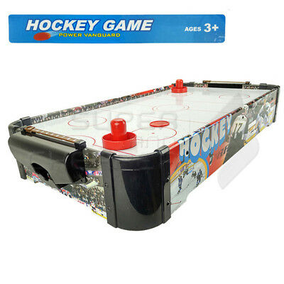 Kids Fun Gift Toy Wooden Mini Air Hockey Table Game