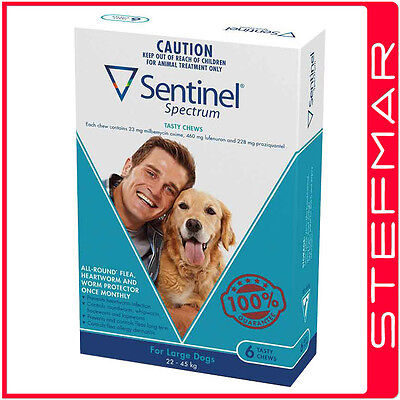 Sentinel Spectrum for Dogs Chews 22-45Kg Large Blue 6Pack