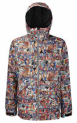 Westbeach Men's Ego Textastic Insulated Jacket. RRP £170. TMB1005. Size XS.