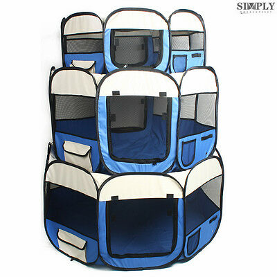 8 Panel Pet Dog Playpen Exercise Enclosure Fence Rabbit Puppy Play Pen Tent Cage