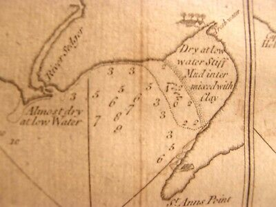 Antique 1773 Chart Map Hms Dolphin South America Port Famine Fortescue Bay