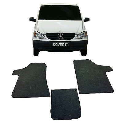 Mercedes Vito MK2 2004-20014  Rubber Backed Tailored Car Van Mats Carpet Camper