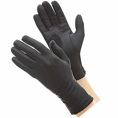 Isotoner Womens Stretch Classics Fleece Lined Gloves One Size Black