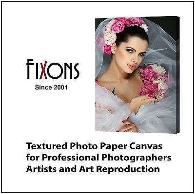 """Textured Photo Inkjet Canvas Matte for Epson 8.5"""" x 11"""" - 100 Sheets"""