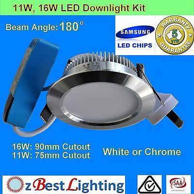 10 x 11W/16W Dimmable or non-Dim LED Downlight Kit -Warm /Daylight or Cool White