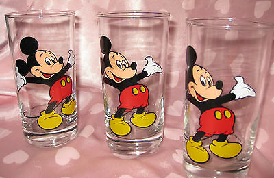 Vintage Mickey Mouse Glasses - Set of 3