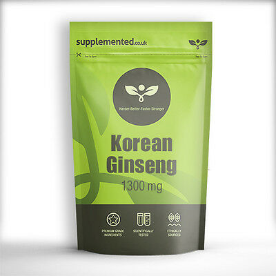 KOREAN GINSENG EXTRACT 1300mg TABLETS Energy & Sexual Health Supplement