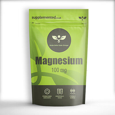 MAGNESIUM 100mg TABLETS Mineral Supplement ✔UK Made ✔Letterbox Friendly