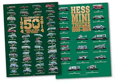 2014 Hess Truck Posters Pair! 50 Year Truck & Hess Mini Poster FREE SHIPPING!