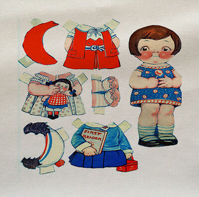 Printed Fabric Panel Make A Cushion Upholstery Craft Vintage Clowns