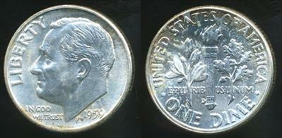 United States, 1959-D Dime, Roosevelt (Silver) - Choice Uncirculated