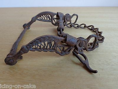 Vtg Antique Rare Ottoman Empire Wrought Ornate Horse Mouth Bridle Snaffle Bit