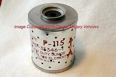 Willys Jeep MB M38 M38A1 M37 Ford GPW Oil Filter Element Military NOS. ACP-115.