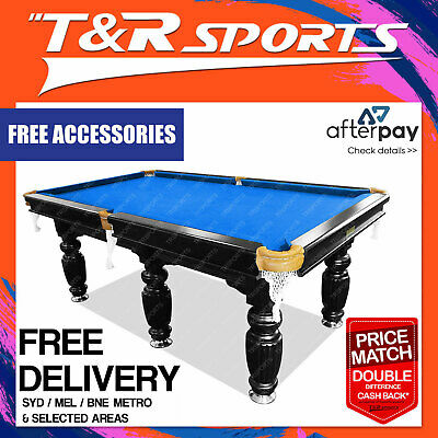 9FT Blue Slate Pool Table Luxury for Snooker Billiard Free Metro Delivery