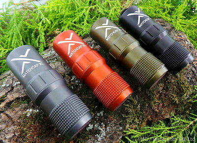 Exotac Matchcap Xl Waterproof Aluminium Match Case Firelighting Bushcraft