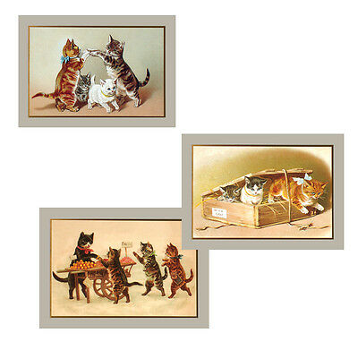 75 Victorian Cat Petite Gift Cards for all Occasions EG0002