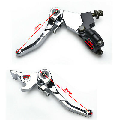 Folding Hydraulic Brake Systems Clutch Lever For HONDA XR50 CRF50 Dirt Pit Bike