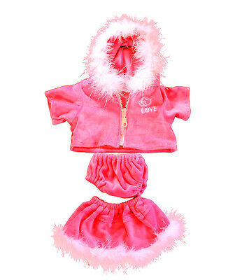 """Pink Love Outfit 16""""(40cm ) by Teddy Mountain fits Build a Bear"""