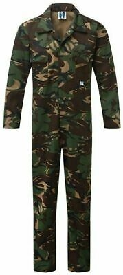 Blue Castle mens camo stud elasticated boiler suit coverall 334 small-XXL