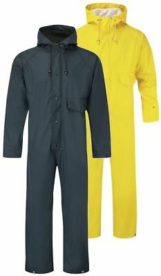Fortress 320 Flex wateproof stretchable pu coverall navy or yellow S-XXXL