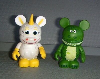 "Disney VINYLMATION 3"" Buttercup & Rex (Dinosaur) Lot Toy Story Series 1 (Va17"