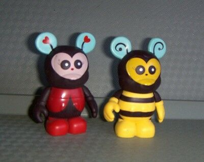 "Disney VINYLMATION 3"" Ladybug & Bumble Bee Cutester Series 1 (Va20"
