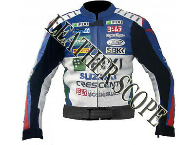 Suzuki Fixi Motorbike, Motorcycle Motogp Racing Leather Jacket